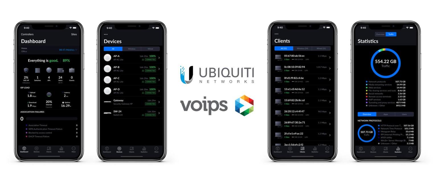 afbeelding van ubiquiti unifi controller app voor het beheren van je zakelijke wifi netwerk