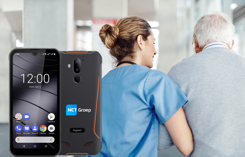 Smartphone voor zorgmedewerkers. Alle applicaties op 1 device, eenvoudig zorgapplicaties beheren met MDM. Robuust en waterdicht, de smartphone die echt de zorg ontzorgt.