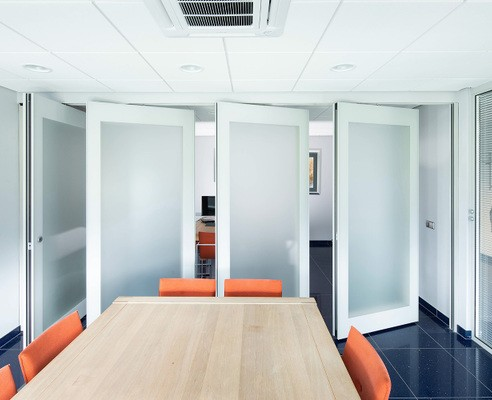 Glaswand voor kantoorruimte