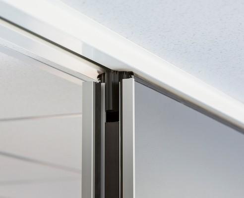 Mobiele paneelwand P90 plafonddetail 1-punts