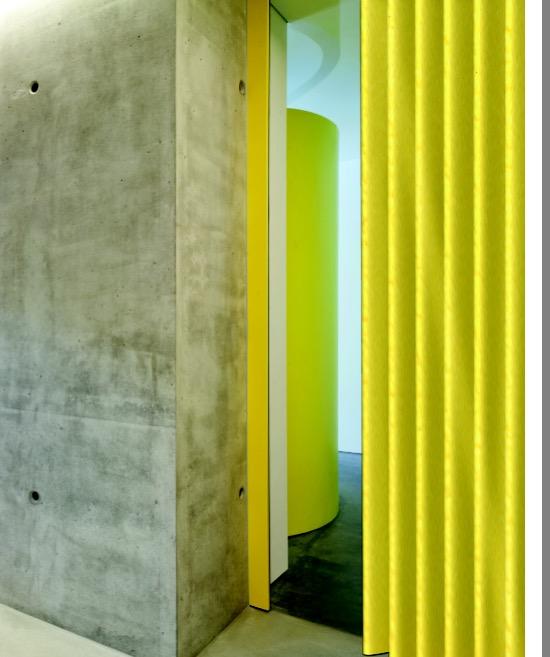 Kleurrijke moderne kunstlederen vouwwand
