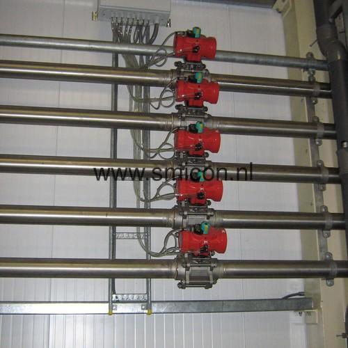 RVS leidingwerk diervoederfabrikant