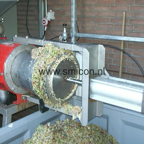 Filtratie groente restafval schroefpersfilter MAS