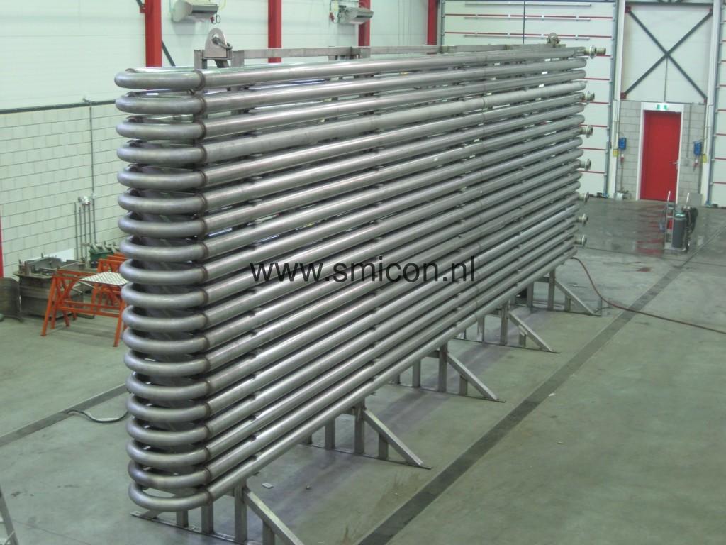 Warmtewisselaar biogasinstallatie verwarmen product