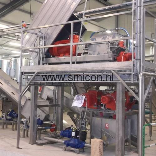 SMIMO30 installatie voor recycling van levensmiddelen