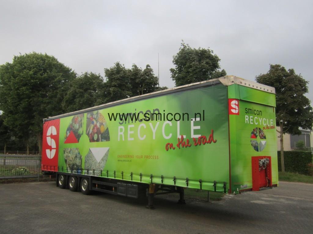 Mobiele recycling installatie