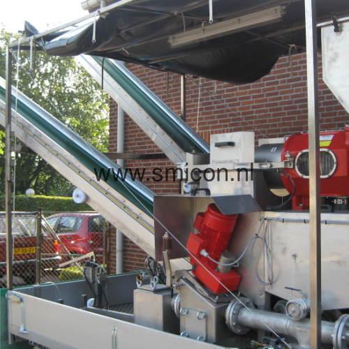 Inline Hammermühle Anhanger mobile Installation