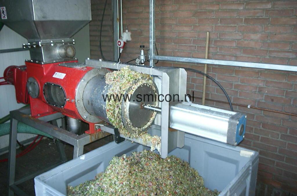 Filtration pflanzliche Abfalle Filterschneckenpresse MAS