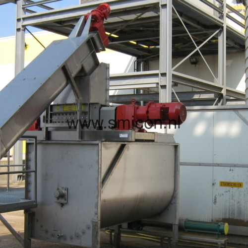 Shredder recycling installation