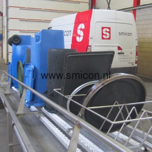Automatisch reinigen tonnen en deksels