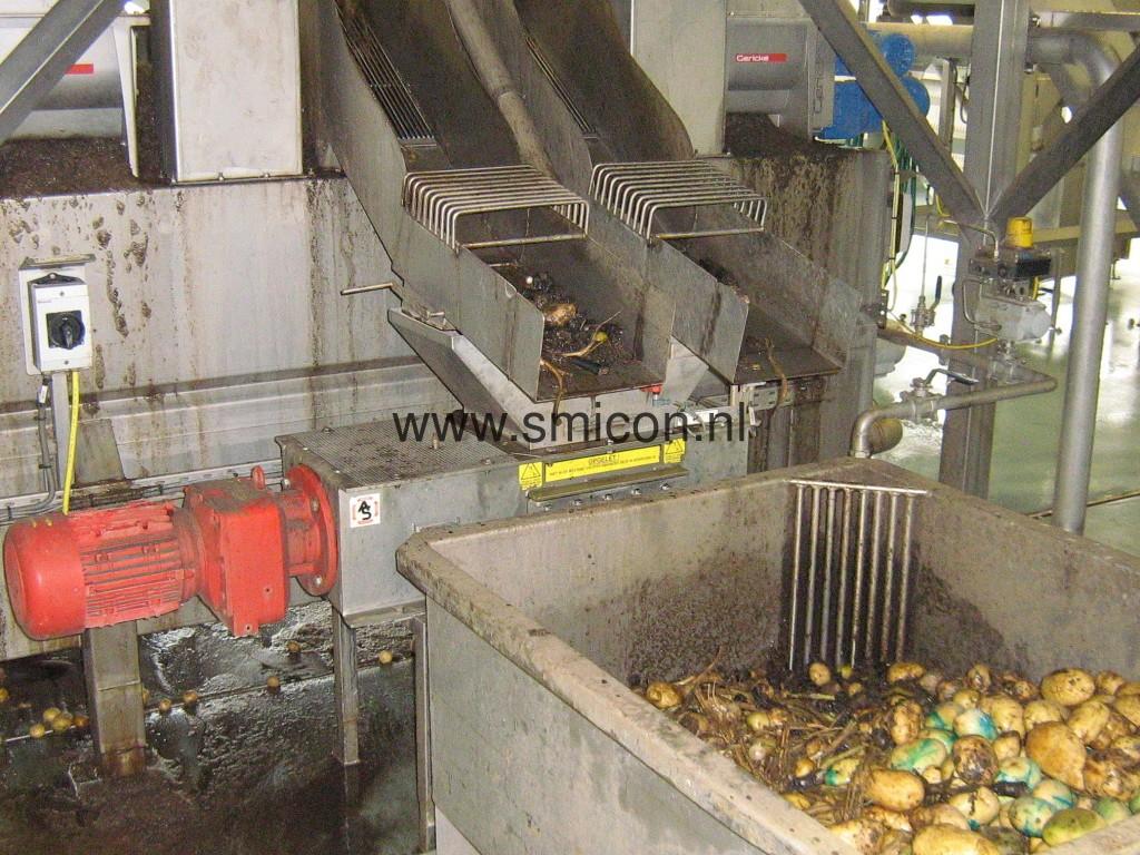 Kartoffel verarbeitung mit Grobmühle