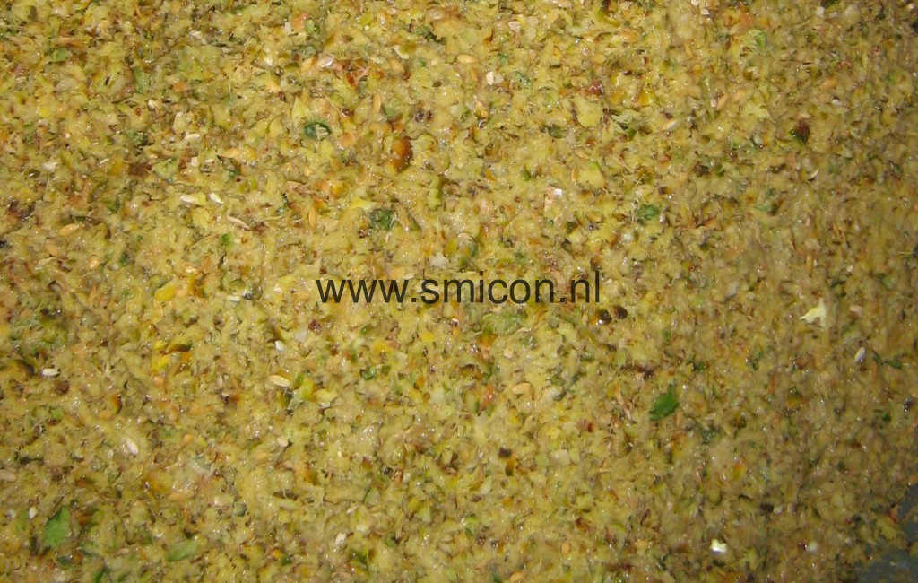 Potatoes after processing with coarse grinder