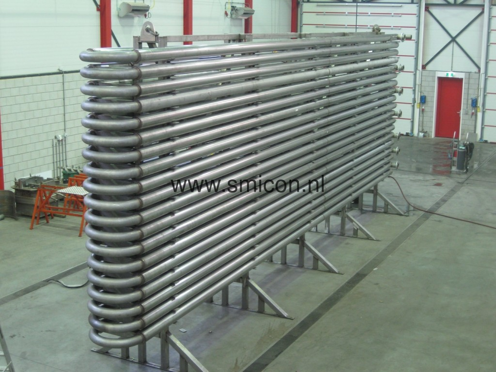 Heat exchanger biogasinstallation heating of digestate