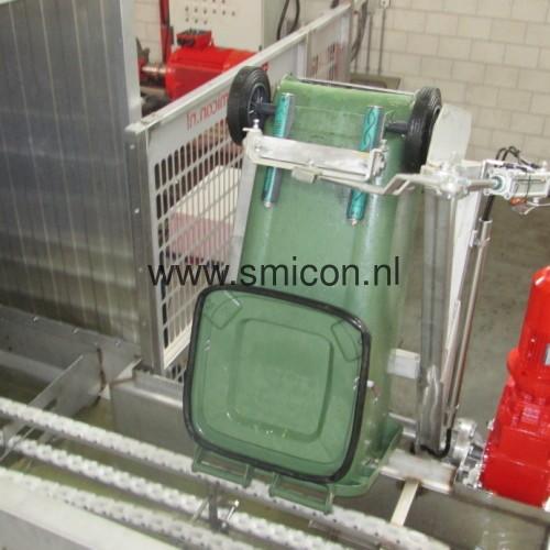 Tilter for wheelie bins